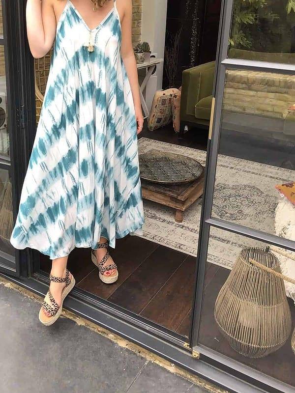 Sephora-Dress-White-Teal-Tie-Dye